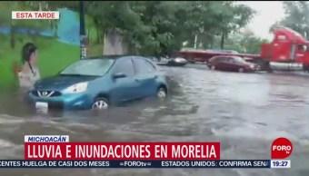 Foto: Morelia Lluvia Inundaciones Hoy 23 Julio 2019