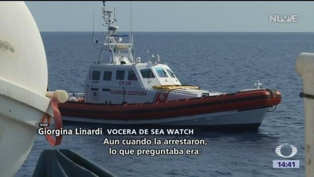 Foto: Capitana del barco Sea-Watch desafía a Italia tras rescatar a migrantes