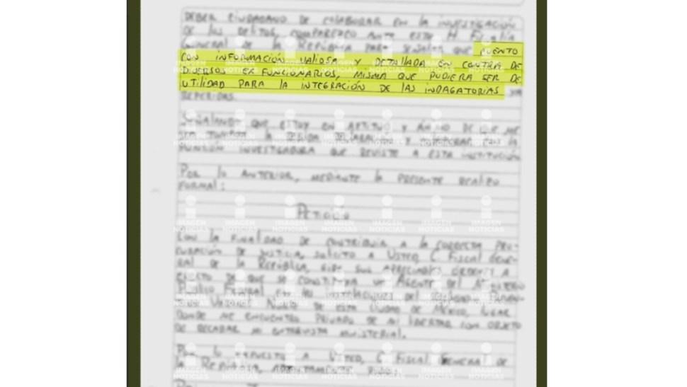 Foto: Ciro Gómez Leyva publicó una imagen de la carta