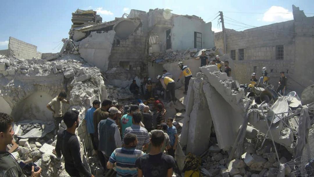 Foto: Cascos blancos de defensa civil siria. Imagen de Archivos. 28 de julio 2019
