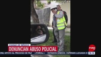 Foto: Policías agreden y suben a patrulla a un albañil