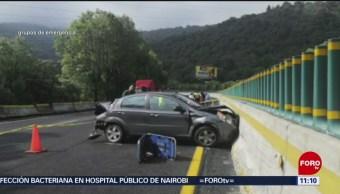 Choque deja un muerto en la México-Cuernavaca
