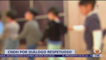 CNDH lamenta reacción del Gobierno federal por recomendación de estancias
