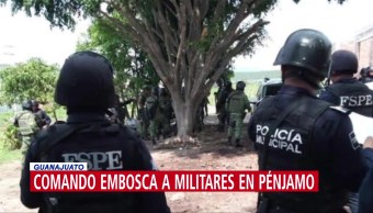 Comando embosca a militares en Pénjamo, Guanajuato