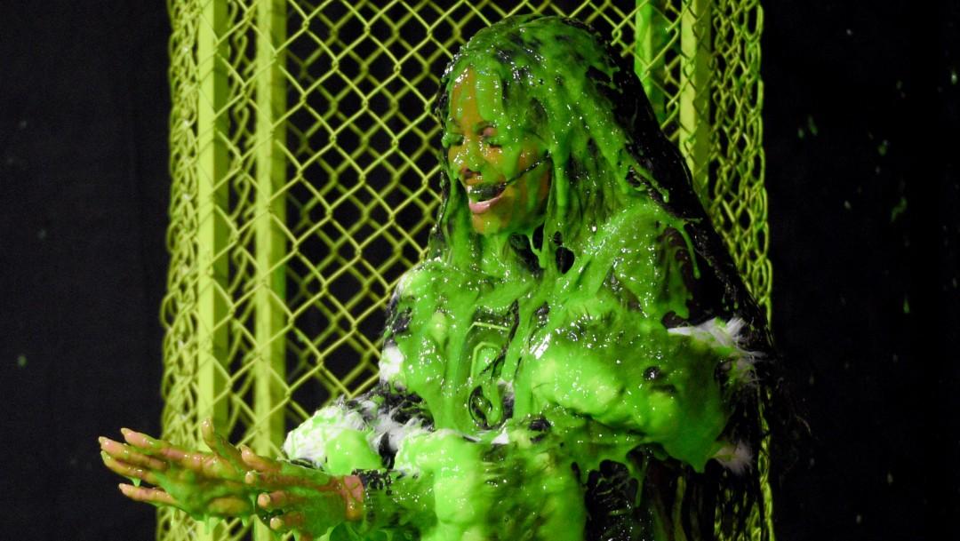 Foto: Mujer cubierta con slime, 11 de julio de 2019, California