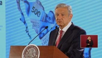Foto: El presidente Andrés Manuel López Obrador ofrece una conferencia de prensa sobre el crecimiento económico en México, 31 julio 2019