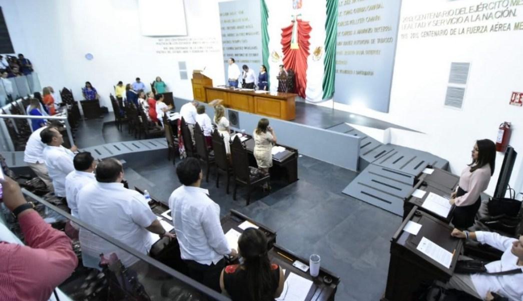 Sesión en el Congreso de Tabasco