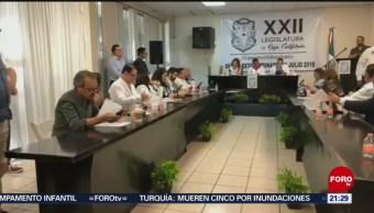 Foto: Congreso Valida Reforma Ampliar Mandato Baja California 23 Julio 2019