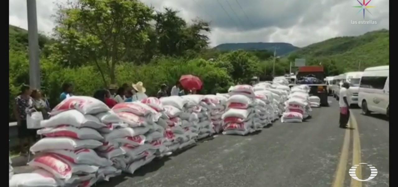 Foto: Tensión Reparto Fertilizantes Guerrero 15 Julio 2019