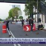 Continúa toma de Centro de Mando de Policía Federal