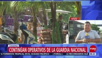 FOTO: Continúan los operativos de la Guardia Nacional en Chiapas, 6 Julio 2019