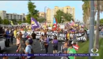Continúan protestas en Puerto Rico contra Ricardo Rosselló