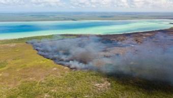Foto Sian Ka'an incendio Muyil controlado 30%, dicen autoridades 15 julio 2019