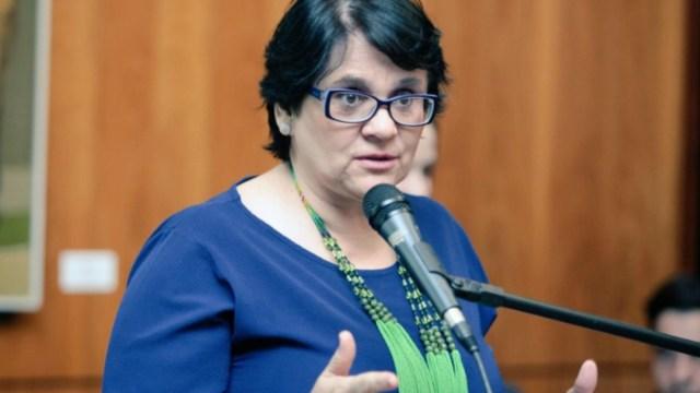 Imagen: La ministra de la Mujer, la Familia y los Derechos Humanos, en medio de la polémica por sus declaraciones, 28 de julio de 2019 (Twitter @DamaresAlves, archivo)