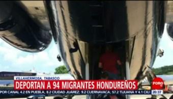 FOTO: Deportan a 94 migrantes hondureños en Villahermosa, Tabasco, 13 Julio 2019
