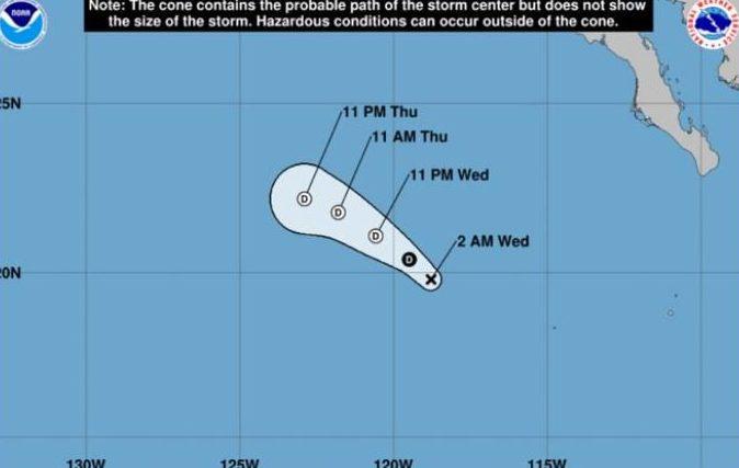 Dalila se degrada a depresión tropical en BCS