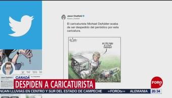 Foto: Despiden Caricaturista Canadiense Trabajo Trump 1 Julio 2019