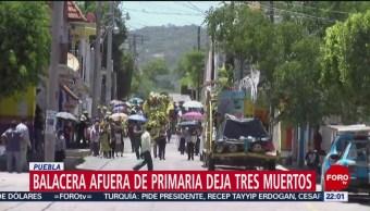 FOTO: Despiden a policías que murieron en balacera de Puebla, 7 Julio 2019