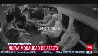Foto: Asalto Transporte Público Naucalpan Edomex 15 Julio 2019