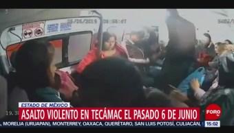 Detienen a asaltantes de transporte público en Tecámac, Edomex