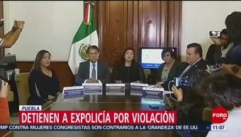 Detienen a expolicía por violación en Puebla