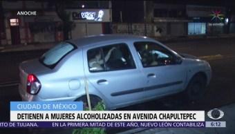 Detienen a mujer alcoholizadas en avenida Chapultepec, CDMX
