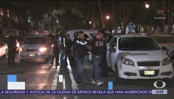 Detienen a tres hombres por delito de narcomenudeo en CDMX
