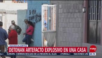 Foto: Detona Bomba Casa Aguascalientes 3 Julio 2019