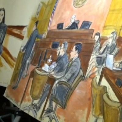 """Cómo fue dibujar a """"El Chapo"""" durante el juicio del siglo"""