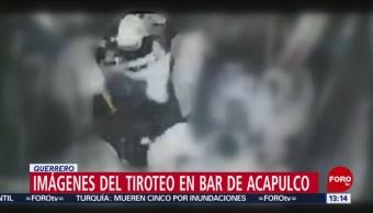 Divulgan nuevo video del ataque a balazos en un bar ubicado en la Costera Miguel Alemán, en Acapulco, en el que murieron cinco personas