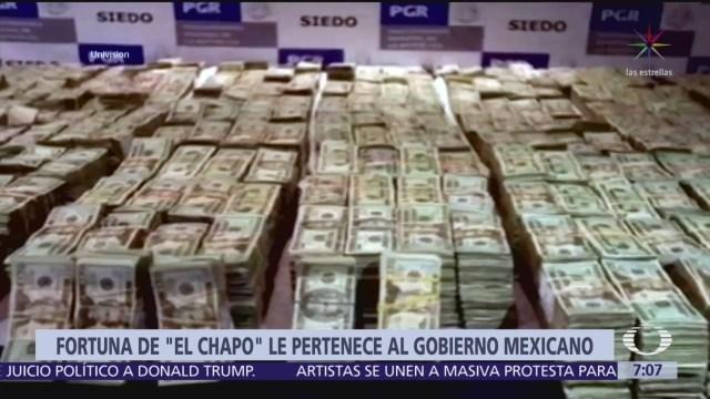 Dinero de 'El Chapo' debe ser para gobierno mexicano, dice abogado