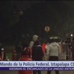 Elementos de la Policía Federal permanecen afuera de Centro de Mando CDMX
