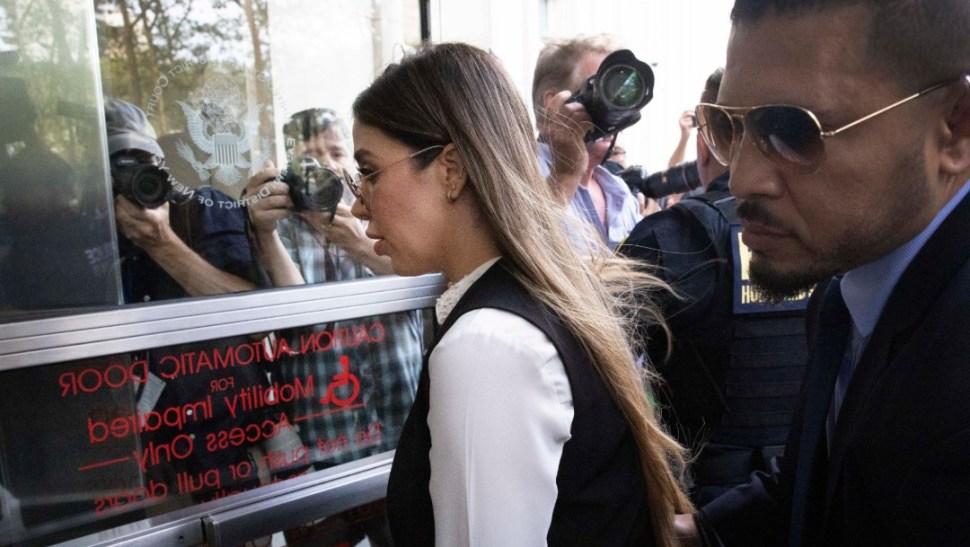 Foto: Emma Coronel llega a la corte donde se dictará sentencia a El Chapo, 17 de julio de 2019, Nueva York