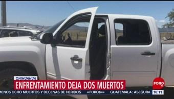 FOTO: Enfrentamiento deja dos muertos en Chihuahua, 27 Julio 2019