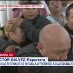 Enfrentamientos durante protesta de policías federales en la CDMX