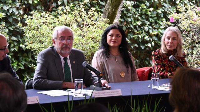 Enrique Graue, Alejandra Frausto y Silvia Lemus