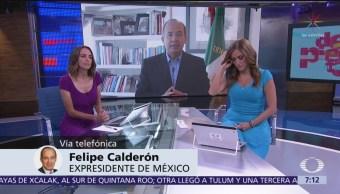 Estoy siendo atacado desde el poder: Felipe Calderón