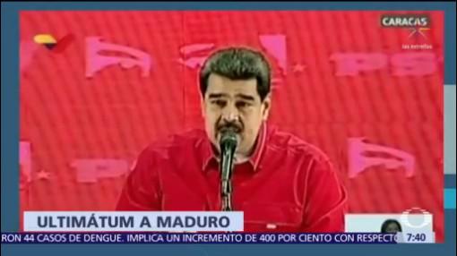 EU comunica a Maduro que tiene un corto plazo para dejar el poder