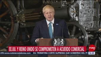 FOTO: EU y Reino Unido se comprometen a acuerdo comercial, 27 Julio 2019