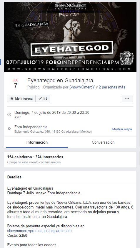 Foto de banda estadounidense en Guadalajara 8 julio 2019