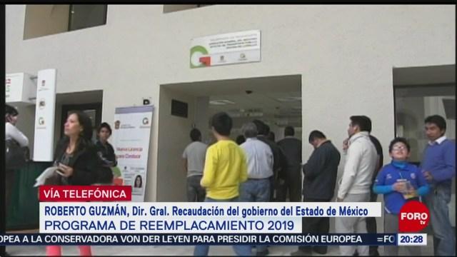 Foto: Falla Sistema Reemplacamiento Edomex 2 Julio 2019