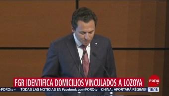 FGR ubica extranjero cuatro domicilios Emilio Lozoya