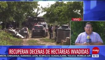 FOTO: Fiscalía de Chiapas recupera decenas de hectáreas invadidas, 20 Julio 2019