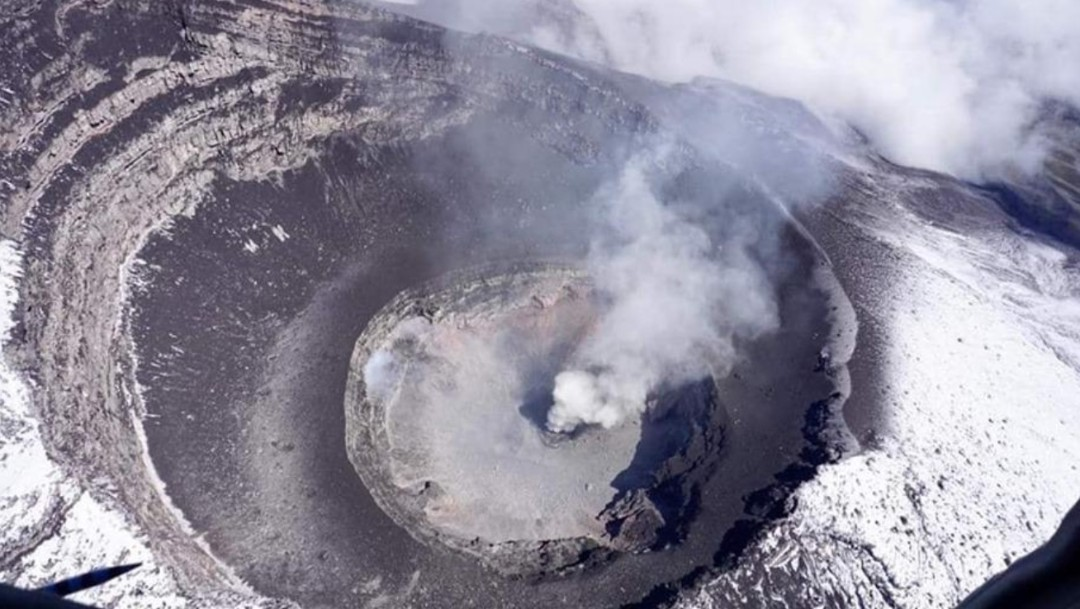 Foto: Detectan la formación de un nuevo domo en el volcán Popocatépetl, el 21 de julio de 2019 (Twitter: @ICCSV_oficial)