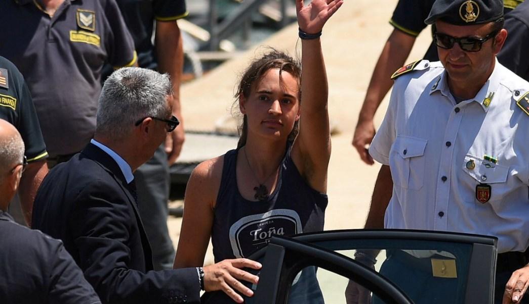 Foto: Carola Rackete, capitana alemana del barco Sea-Watch 3. El 1 de julio de 2019