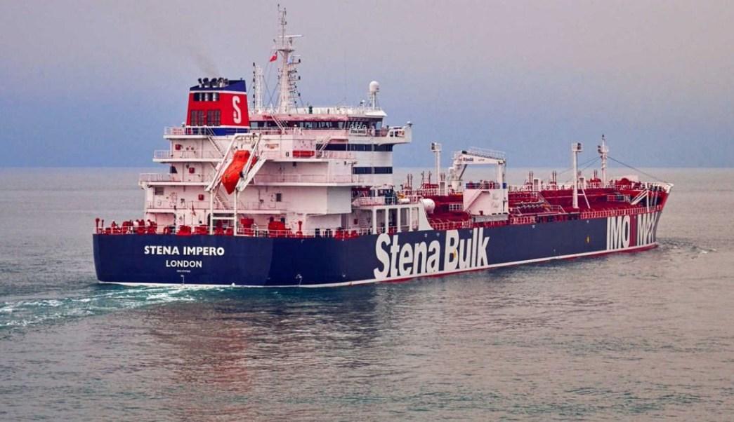 Foto: Buque petrolero Stena Impero, de bandera británica. El 19 de julio de 2019