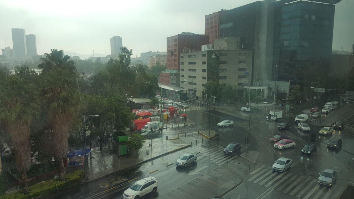 Lluvia en la Ciudad de México. El 11 de julio de 2019