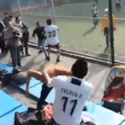 Suspenden a equipos de futbol tras pelea campal durante juego de niños en CDMX