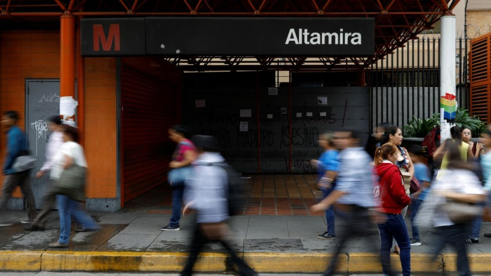 Foto: El Metro de Caracas quedó suspendido por la falta de electricidad. El 22 de julio de 2019