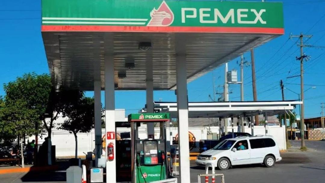 Fotografía de una gasolinería de Pemex, 12 julio 2019